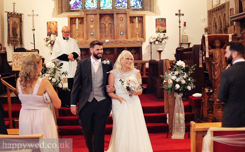wedding photos St Michael church Swansea