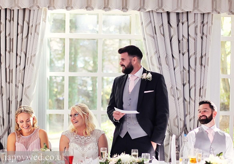 wedding reception at Norton House swansea photos