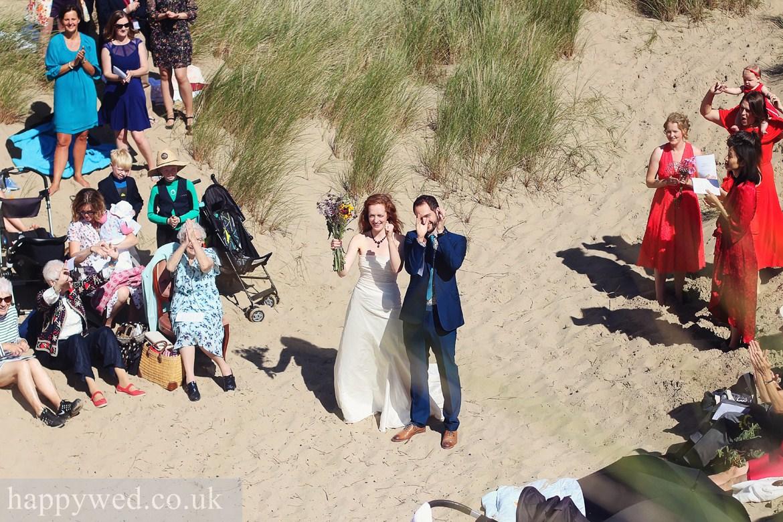 wedding photography at ynyslas national nature reserve