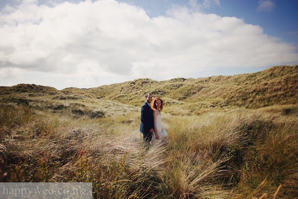 wedding photography at ynyslas national nature reserve