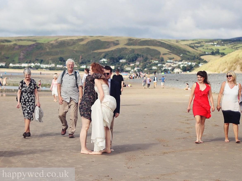 wedding photo ynyslas national nature reserve