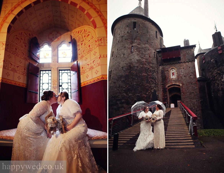 wedding photos Castell Coch