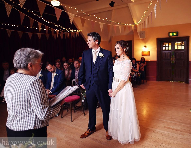 Oakdale Workmens Institute wedding ceremony