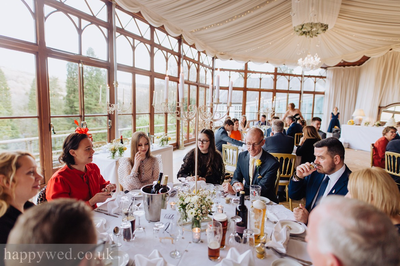 Craig y nos Castle Swansea wedding reception